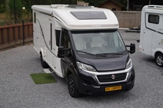 Hymer Tramp 588 Edition Automaat Enkele Bedden Garage Solar Cruise Controle Navigatie Camera Alco chassis Airco TV Sat Antenne enz enz